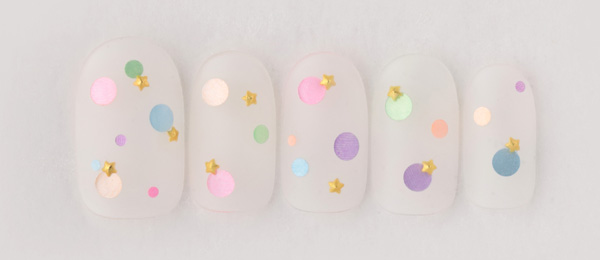 clear×colorful dots(平野 麻奈)   ネイルサロンtricia(トリシア)表参道店
