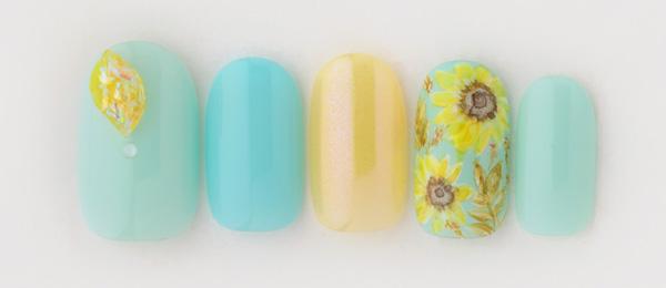 summer blue×sunflower(平野 麻奈)   ネイルサロンtricia(トリシア)表参道店