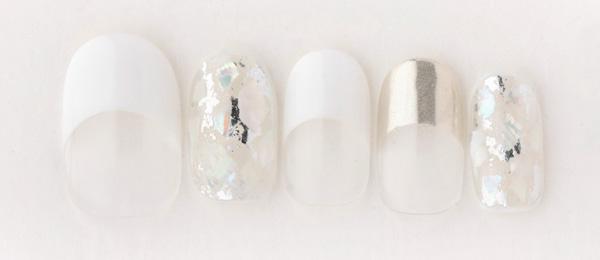 French nail ×shell(中西 優奈) | ネイルサロンtricia(トリシア)銀座店