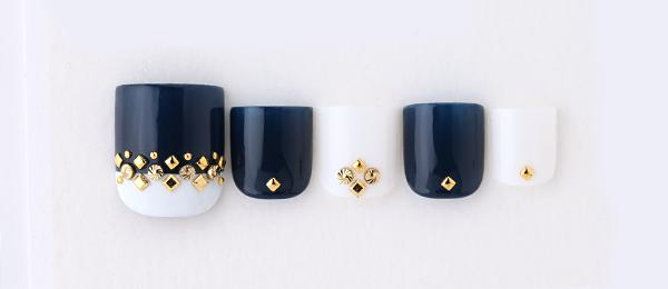 Navy & Gold bijou(tricia)   ネイルサロンtricia(トリシア)表参道店