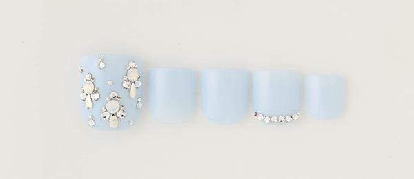 Bijou × sky blue(中西 優奈) | ネイルサロンtricia(トリシア)銀座店