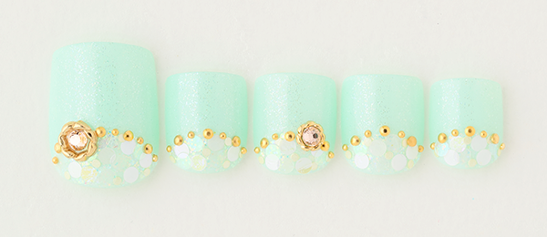 Mint green nail(tricia) | ネイルサロンtricia(トリシア)