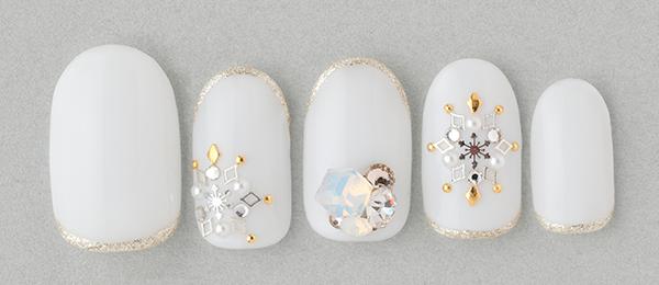 Snow crystal ×bijou(田中 恵子) | ネイルサロンtricia(トリシア)銀座店